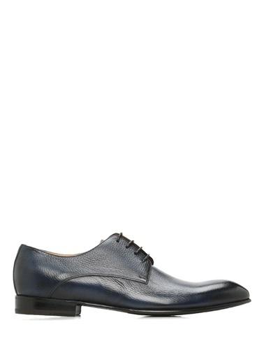 Barrett %100 Deri Bağcıklı Klasik Ayakkabı Lacivert
